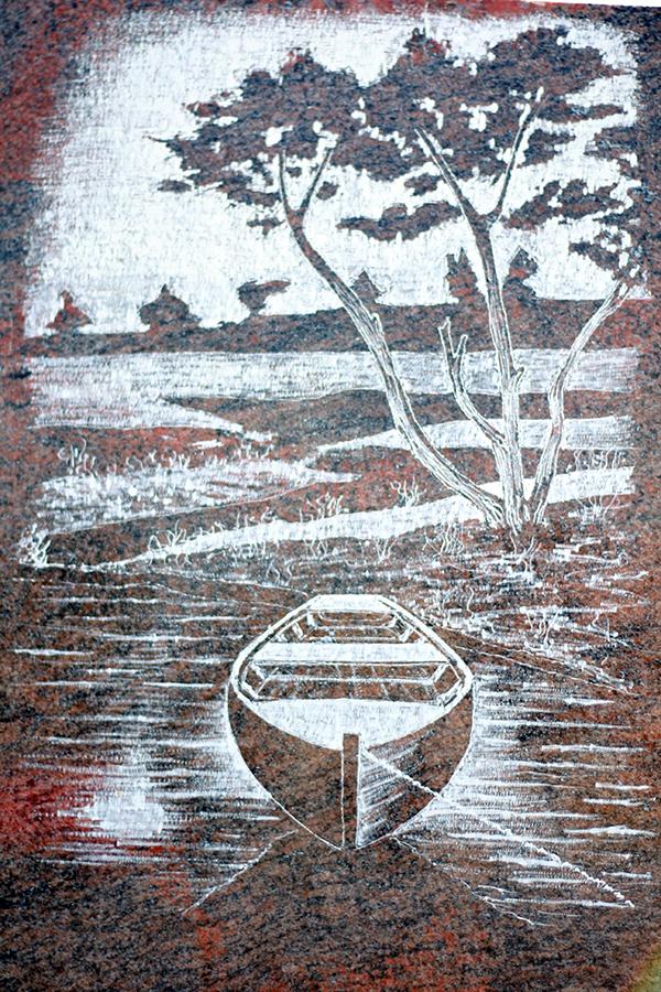 lithogravure granit