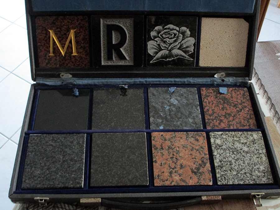 échantillons de granit marbrerie